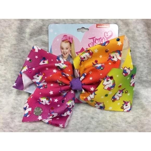 6a05e32fb5edc JoJo Siwa Accessories   Ombre Bright Rainbow Unicorn Hair Bow   Poshmark